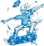 Skeleton skater  on white background Stock Photo