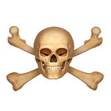 Skeleton and skull with bones Royalty Free Stock Photo