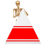 Skeleton skull with triangle. 3d art illustration of Skeleton skull with triangle Stock Photos