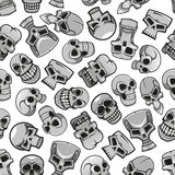 Skeleton skulls seamless pattern background Royalty Free Stock Photography