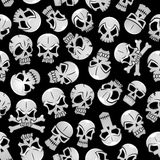 Skeleton skulls seamless pattern background Stock Image