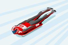 Skeleton Sled Race Winter Sports Royalty Free Stock Image