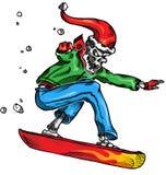 skeleton Snowboarder Stockfotos