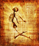 Skeleton Soaring Parchment Royalty Free Stock Image