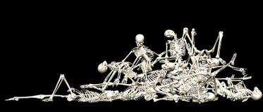 Skeleton Stapel Lizenzfreies Stockfoto