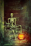 Skeleton On The Steps Royalty Free Stock Image