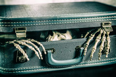 Skeleton in a Suitcase 2 Royalty Free Stock Images