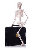 Skeleton with suitcase Royalty Free Stock Photography