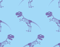 Skeleton t-Rex seamless pattern. Purple Cute bone Tyrannosaurus Royalty Free Stock Photos