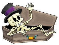 Skeleton theme image 3. Eps10 vector illustration Royalty Free Stock Photo