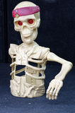 Skeleton toy figurine. Objects fun Stock Photography