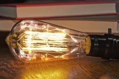 Skeleton Trapped Lightbulb Stock Photography