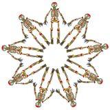 Skeleton vector pattern Stock Images