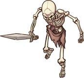 Skeleton warrior Stock Images