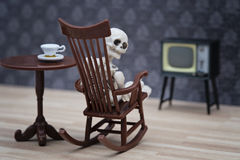 Skeleton watching tv Royalty Free Stock Photo