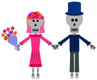 Skeleton Wedding Royalty Free Stock Image