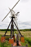 Skeleton Windpump an wie Hügel Stockbild