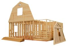 Skeleton of a wooden house Stock Photography