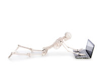Skeleton working Royalty Free Stock Photos