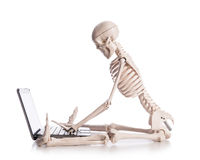 Skeleton working Royalty Free Stock Image