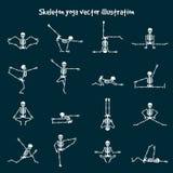 Skeleton yoga vector illustration Royalty Free Stock Photo