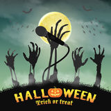 Skeleton Zombiehand des Halloween-Karaokemikrophons