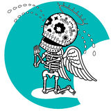 Skeletons Angeic Cry Royalty Free Stock Images