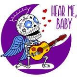 Skeletons Angel Serenade Stock Image