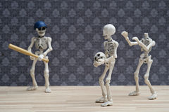 Skeletons baseball joke Royalty Free Stock Photography