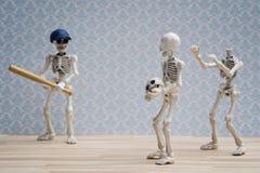 Skeletons baseball joke Stock Photos