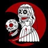 Skeletons Bride stock illustration