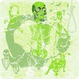 Skeletons dancing Royalty Free Stock Image