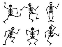Skeletons dancing Royalty Free Stock Photo