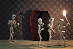Skeletons in the dark place Royalty Free Stock Images