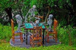 Halloween skeletons decoration stock photo