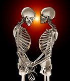 Skeletons In Love Stock Image