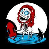 Skeletons  Malibu Royalty Free Stock Image