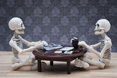 Free Skeletons Meal Royalty Free Stock Photography - 69250897