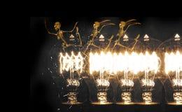 Skeletons Run Lightbulb Stock Image