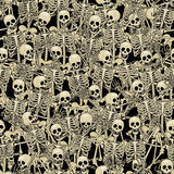 Skeletons seamless background Stock Photography