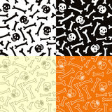 Skeletons seamless  pattern. Royalty Free Stock Photos