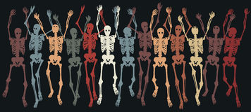 Skeletons together Royalty Free Stock Photo