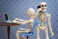 Skeletons works Stock Photo
