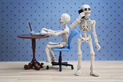 Skeletons works Royalty Free Stock Photos