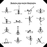 Skeletons in yoga poses Royalty Free Stock Photo