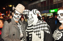 Skeletons in Zombie Crawl and Parade 2015, Toronto, Ontario, Canada. Skeletons in costume during the Church Street 2015 Zombie Crawl and Parade in Toronto stock photography