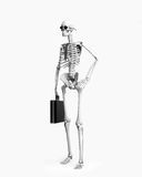 Skeletont businessman. Over the white background (3d Royalty Free Stock Photos