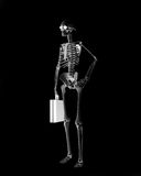 Skeletont businessman. Over the black background (3d Royalty Free Stock Photo