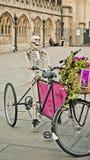 Skeletor dans la bicyclette Image libre de droits