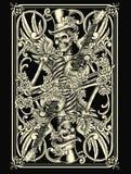 Skeletspeelkaart Stock Afbeelding